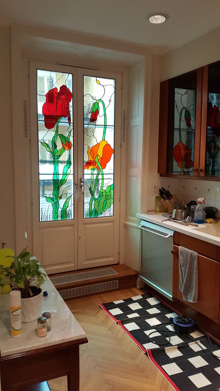 blyinfattade fönster,Höglandstorgets Glaskonst,Stockholm ...