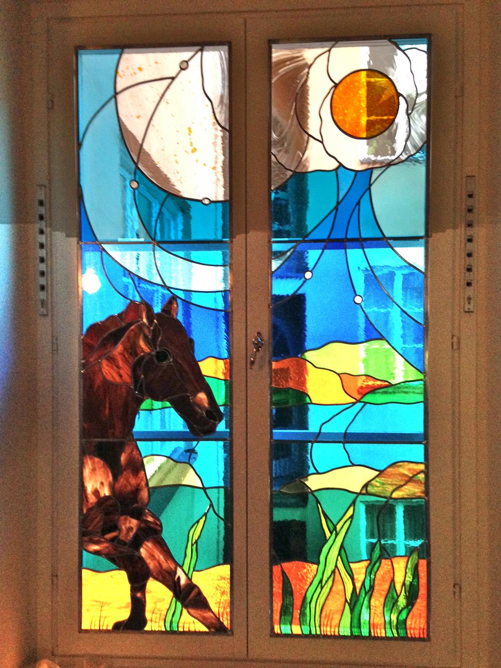 Fönster blyinfattade fönster : blyinfattade fönster,Höglandstorgets Glaskonst,Stockholm ...